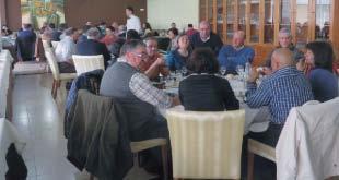 Participantes no almoço