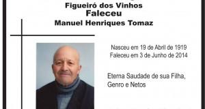 Castanheira de Figueiró: Faleceu Manuel Henriques Tomaz