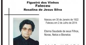 Aldeia de Ana de Avis: Faleceu Rosalina de Jesus Silva