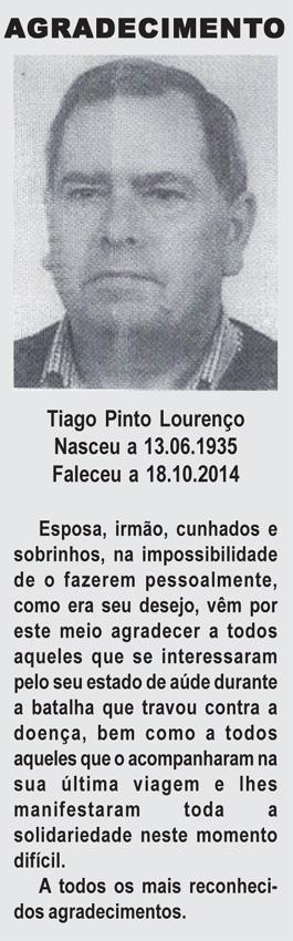 Agradecimento: Tiago Pinto Lourenço