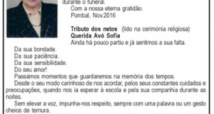 Agradecimento – Sofia Lopes Domingues de Figueiredo