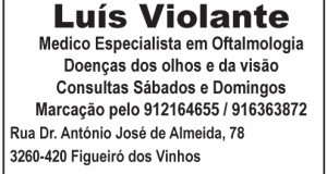 Luís Violante – Médico Especialista em Oftalmologia – Doenças dos olhos e da visão