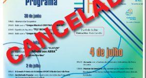 Festividades do Dia do Concelho canceladas