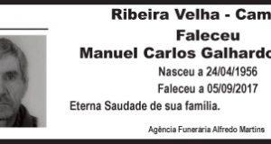 Agradecimento – Manuel Carlos Galhardo Jordão