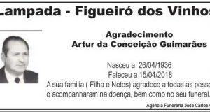 Agradecimento – Artur da Conceição Guimarães