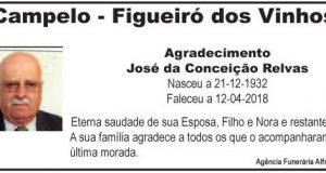 Agradecimento – José da Conceição Relvas