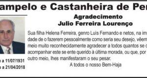 Agradecimento – Júlio Ferreira Lourenço