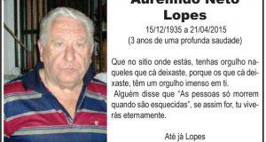 Aurelindo Neto Lopes – Três Anos de Saudade