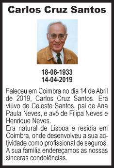 Faleceu – Carlos Cruz Santos