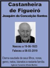 Faleceu – Joaquim da Conceição Santos