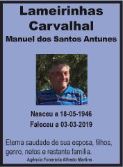 Faleceu – Manuel dos Santos Antunes