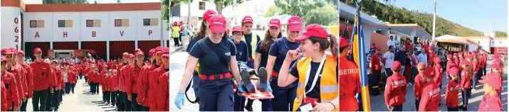 """450 """"jovens bombeiros"""" reunidos em Pampilhosa da Serra no III Encontro Distrital"""