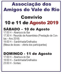 Vale do Rio – Convívio em 10 e 11 de Agosto