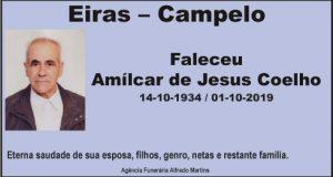 Faleceu – Amílcar de Jesus Coelho
