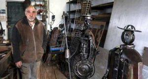 Ex-serralheiro de Pedrógão Grande transforma ferro-velho em obras de arte