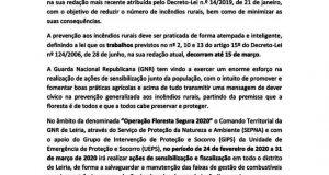 Edital – GNR – Defesa da Floresta Contra Incêndios – Manutenção das Faixas de Gestão de Combustível