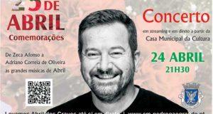 Pedrógão Grande: COVID-19 – Autarquia comemora o 25 de Abril com concerto on-line de António Ataíde