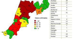 COVID-19 – Ponto da Situação do Distrito de Leiria – Informação do CDOS – Leiria. Informação válida em: 02-05-2020 00:05