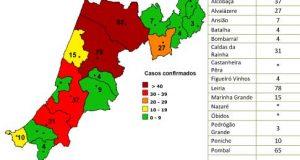 COVID-19 – Ponto da Situação do Distrito de Leiria – Informação do CDOS – Leiria. Informação válida em: 04-05-2020 00:15