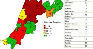 COVID-19 – Ponto da Situação do Distrito de Leiria – Informação do CDOS – Leiria. Informação válida em: 06-05-2020 00:15