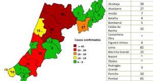 COVID-19 – Ponto da Situação do Distrito de Leiria – Informação do CDOS – Leiria. Informação válida em: 11-05-2020 00:05