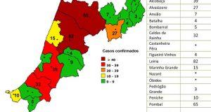 COVID-19 – Ponto da Situação do Distrito de Leiria – Informação do CDOS – Leiria. Informação válida em: 12-05-2020 00:05 – Sem novos casos há três dias