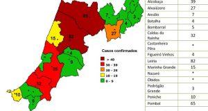 COVID-19 – Ponto da Situação do Distrito de Leiria – Informação do CDOS – Leiria. Informação válida em: 13-05-2020 00:05
