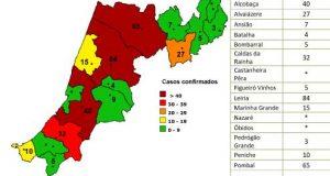 COVID-19 – Ponto da Situação do Distrito de Leiria – Informação do CDOS – Leiria. Informação válida em: 18-05-2020 09.30