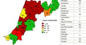 COVID-19 – Ponto da Situação do Distrito de Leiria – Informação do CDOS – Leiria. Informação válida em: 21-05-2020 00:15