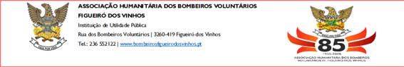 Associação Humanitária dos Bombeiros Voluntários de Figueiró dos Vinhos: Agradecimento