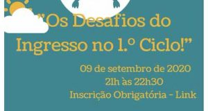 "CIMRL: webinar ""Desafios do Ingresso no 1.º Ciclo"""