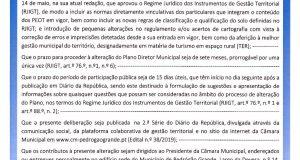 Câmara Municipal de Pedrógão Grande: Edital º 37/2020 – Alteração do Plano Diretor Municipal por força da Lei de Bases do Ordenamento do Território e do Regime Jurídico dos Instrumentos de Gestão Territorial. Início do Procedimento.