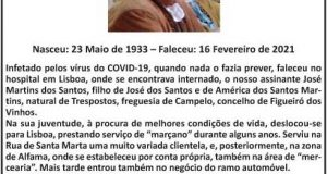 Falecimento – José Martins dos Santos
