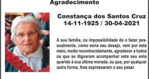 Agradecimento: Constança dos Santos Cruz