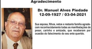 Agradecimento: Dr. Manuel Alves Piedade